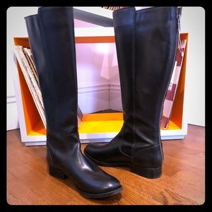 New black knee high Frye boots